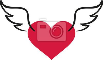Valentinstag Herz Mit Flugeln Fototapete Fototapeten Nubes 14