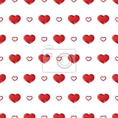 Valentinstag hintergrund. vector nahtlose muster mit weißen herzen ...