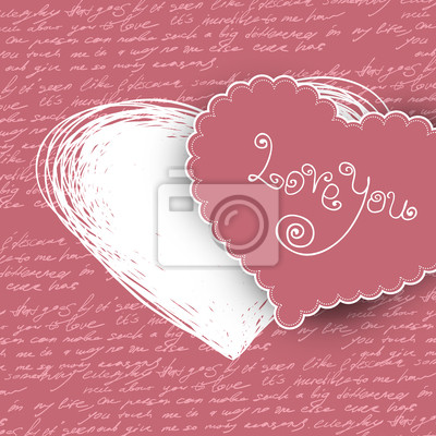 Valentinstag-Karte, Vektor-Illustration.