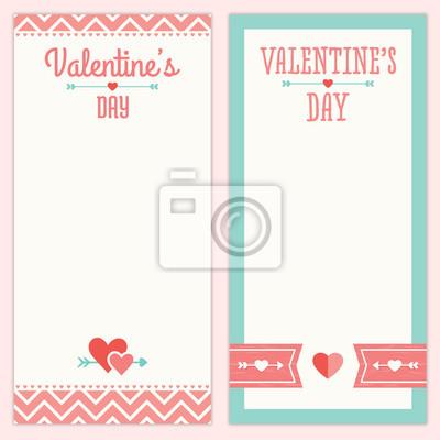 Valentinstag Menu Oder Einladung Entwurfe In Rosa Und Aqua