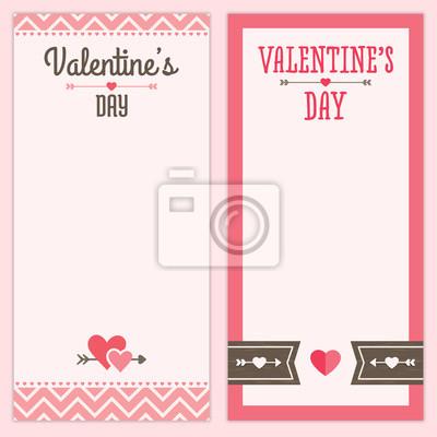 Valentinstag Menu Oder Einladung Entwurfe In Rosa Und Braun