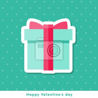 Valentinstag-Symbol im flachen Stil