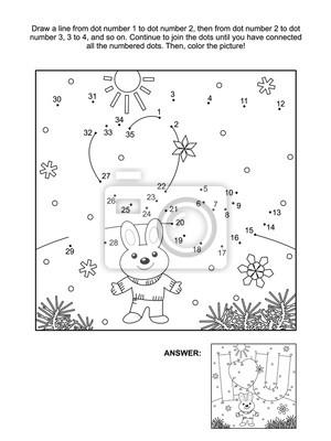 Valentinstag themed verbinden die punkte bild puzzle und malvorlagen ...