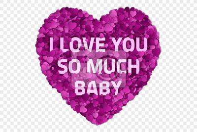 Valentinstag Vektorabbildung Ich Liebe Dich So Viel Baby
