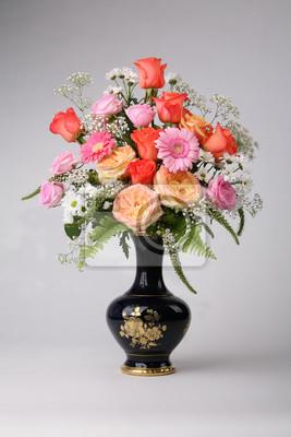 Vase Blumen Blumenstrauss Floral Frische Schöne Natur Fototapete