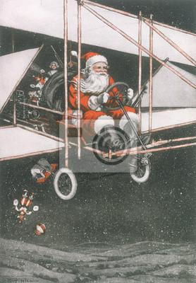 Weihnachten Datum.Fototapete Vater Weihnachten Im Flugzeug Datum 1910
