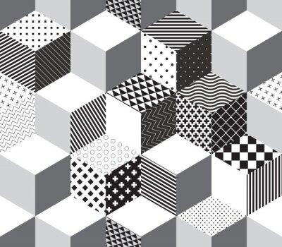 Fototapete Vector 3d cubes pattern