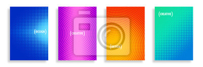Fototapete Vector Abstract Half-Tone Backgrounds