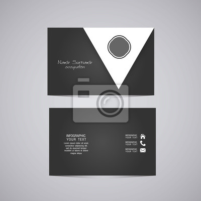 Vector Abstract Kreative Visitenkarten Set Vorlage