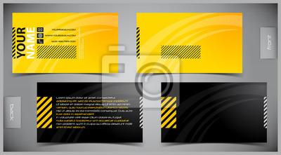 Vector Abstract Kreative Visitenkarten Vorlage Fototapete
