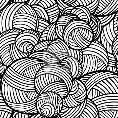 Fototapete Vector Abstract Shapes Pattern