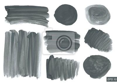 Vector Aquarell Textur festgelegt. Jede Textur ist isoliert auf weiß