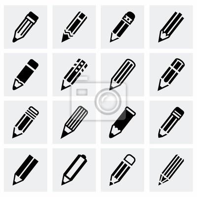 Fototapete Vector Bleistift Icon-Set