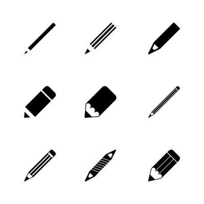 Fototapete Vector Bleistift-Symbol-Set