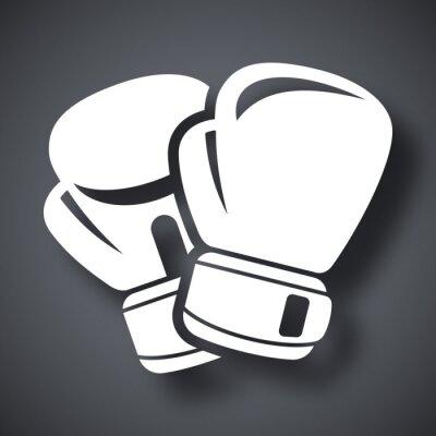 Fototapete Vector Boxhandschuhe icon