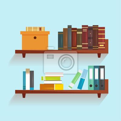 Bücherregal Aus Büchern vector bücherregal mit büchern fototapete fototapeten innenräume