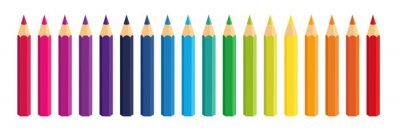 Fototapete Vector Crayons_colored Bleistift Sammlung lose arrangiert_SET1