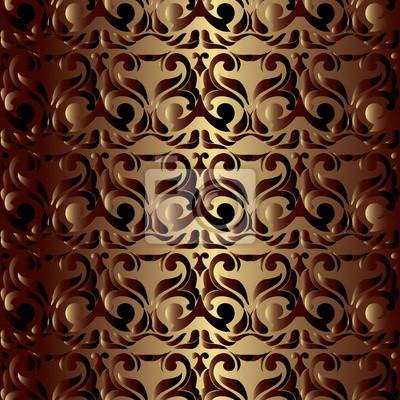 Vector Damast Nahtlose Muster Hintergrund Elegante Luxus Textur