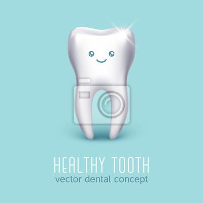 Vector dental medizinischen poster mit 3d menschlichen zahn ...