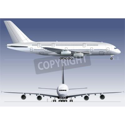 Fototapete Vector double-deck Lagest Jetliner A380