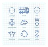 Vector logistic line infographic set.colorful karte markierungen ...