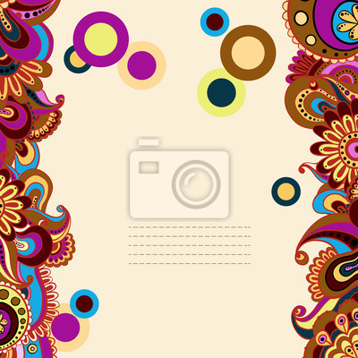 Vector floral dekorativen Hintergrund.