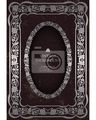 Vector Floral Vintage Frame Vorlage Für Das Buch Deckt Design