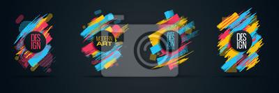 Fototapete Vector frame for text Moderne Kunst Grafiken für Hipster