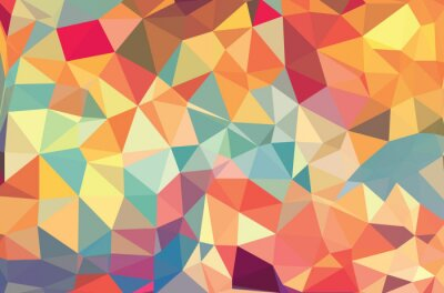 Fototapete Vector geometric shapes. Colorful background. Texture for use in