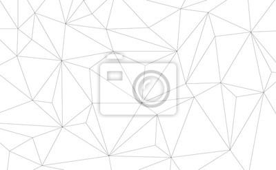 Fototapete Vector Geometrische Hintergrund mit Dreiecken. Schwarz-Weiß-geometrischen Hintergrund.