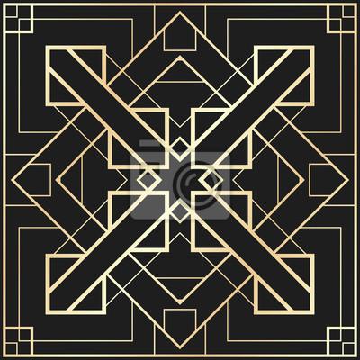 Vector Geometrische Verzierung Im Art Deco Stil Quadratisches