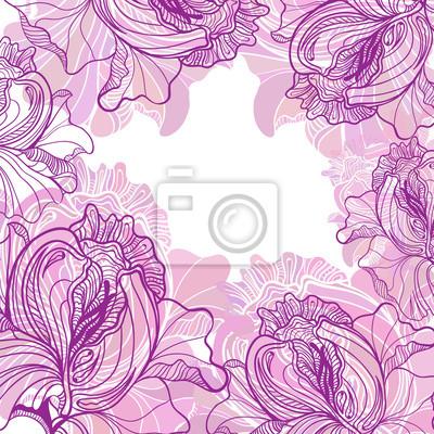 Vector Hintergrund mit Ornament der Grafik Blumen.