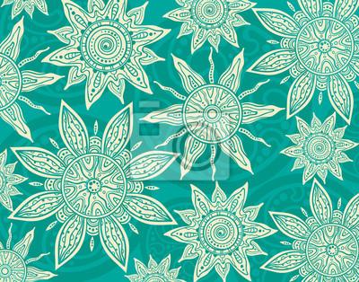 Vector Hintergrund mit Ornament der Grafik Sonnen.