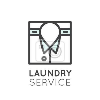 Vector icon style illustration logo von wscheservice waschen fototapete vector icon style illustration logo von wscheservice waschen und reinigen von kleidung chemische thecheapjerseys Images