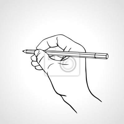 Vector Illustration einer Handschrift mit einem Bleistift