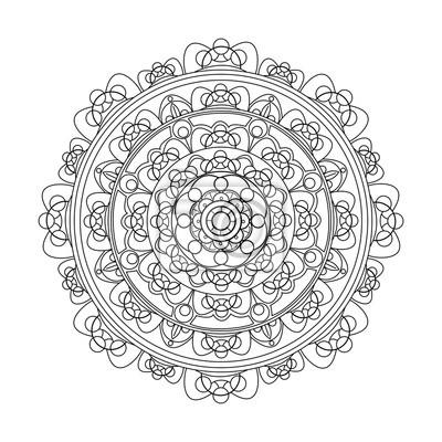 Vector Illustration Einer Mandala Für Antistress Des Malbuches