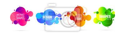 Fototapete vector illustration. modern organic liquid. graphic frame design for text.
