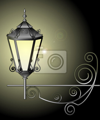 Vector illustration of street lamp