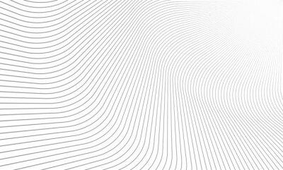 Fototapete Vector Illustration of the pattern of gray lines on white background. EPS10.