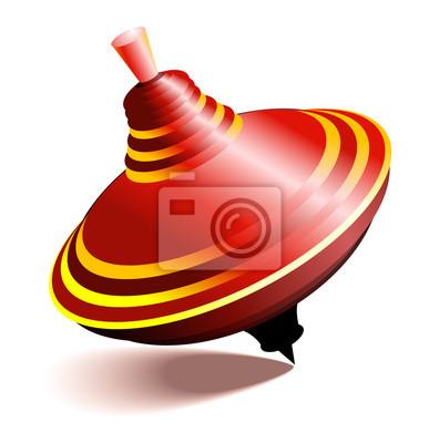 Vector illustration of whirligig