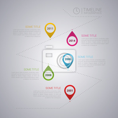 Report Template   Vector Infographic Timeline Report Template Fototapete Fototapeten