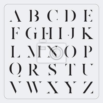Vector Minimalistische Alphabet Set