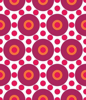 Fototapete Vector modern nahtlose bunte geometrie kreis muster, farbe abstrakt geometrischen hintergrund, kissen mehrfarbig drucken, retro textur, hipster mode design