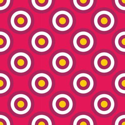 Fototapete Vector moderne nahtlose bunte geometrische Kreise Muster, Farbe abstrakten geometrischen Hintergrund, Kissen mehrfarbigen Druck, retro Textur, Hipster-Mode-Design