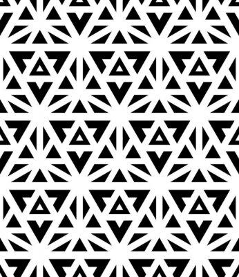 Fototapete Vector moderne nahtlose Muster Heilige Geometrie, Schwarz-Weiß-Textildruck, abstrakte Textur, monochrome Mode-Design