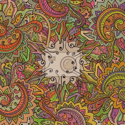 Vector Muster der indischen Blumenverzierung