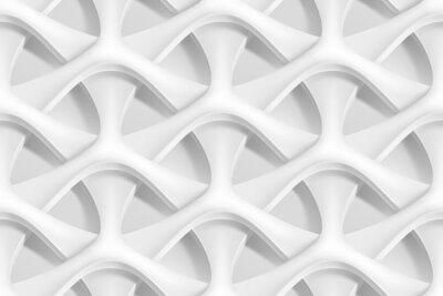 Fototapete Vector nahtlose abstrakte geometrische 3d Wellen Muster