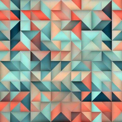 Fototapete Vector Nahtlose Blau Rosa Gradient Dreieck Unregelmäßige Raster Quadrat Muster