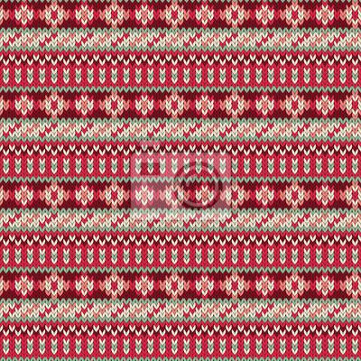 Vector nahtlose gestrickt Muster in ethnischen Stil