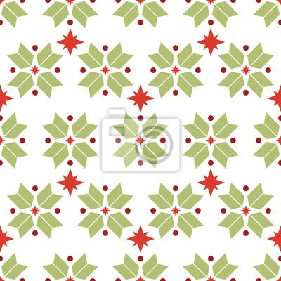 Vector nahtlose Muster der geometrischen Schneeflocken. Nordischen Muster